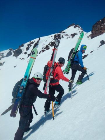 <p>Hiking to higher ground on Brokentop Mountain.</p>