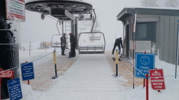 <p>Mt. Ashland built a deck around its chairlift so people can ride it with just an inch of snow on the ground.</p>