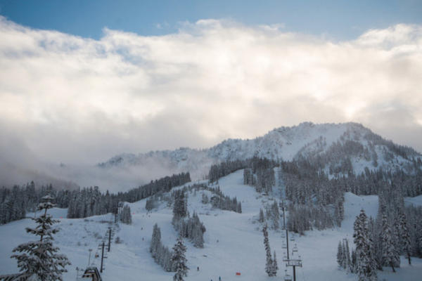 <p>Washington's Stevens Pass ski area bought its first snow gun last year.</p>