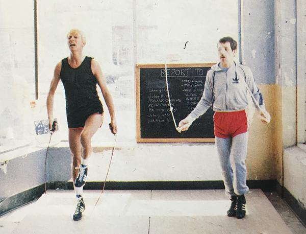 Bowie and Lord training in Dallas in the '80s.