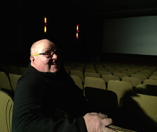 Tiny Pedersen bought t the Desert Historic Theatre in downtown Burns, Oregon, about 13 years ago. Since then he's been making improvements: a new digital projector, some newer sets of seats and a new, larger-volume popcorn popper.