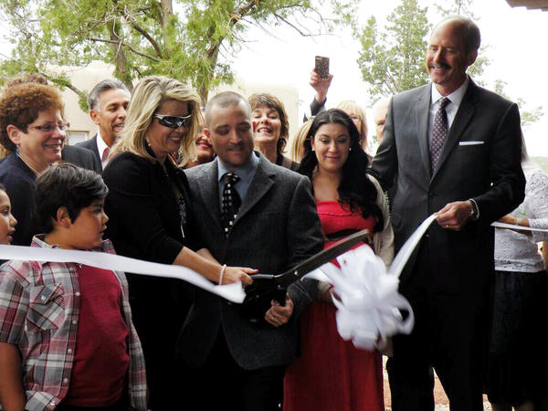 Weiss-Burke and husband David Burke at the ribbon cutting ceremony for Serenity Mesa treatment center.