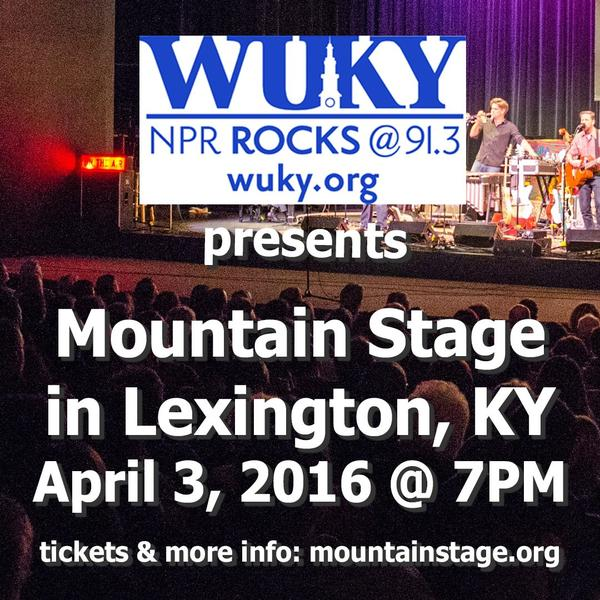 Mountain Stage will help Lexington, KY affiliate WUKY celebrate their 75th Anniversary with a show in April.