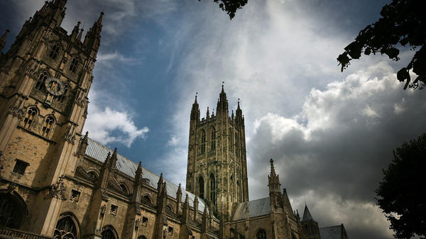 Canterbury Cathedral, the mother church of the international Anglican Communion, stands under clouds in 2008, in Canterbury, England. A church meeting this week on the issue of same-sex marriage has resulted in a three-year sanction of the Episcopal Church, the Anglican body in America.