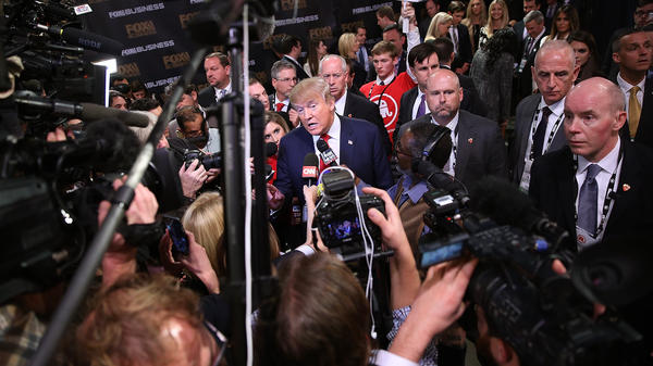 "In the spin room after Thursday's GOP debate, Donald Trump said his ""bromance"" with Ted Cruz was over."