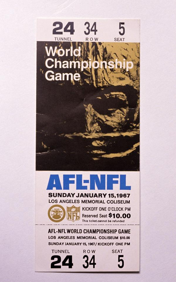 Back in 1967, it wasn't even called the Super Bowl. It was the AFL-NFL Championship Game.