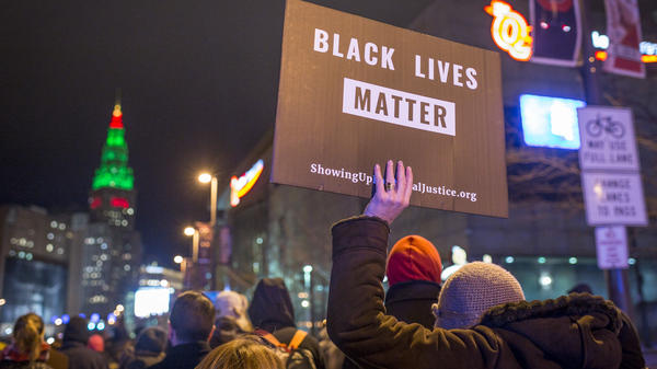 Demonstrators march in December 2015 in Cleveland, Ohio, the day after a grand jury declined to indict a police officer in the fatal shooting of Tamir Rice in 2014.