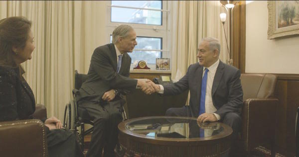 Gov. Greg Abbott with Prime Minister Benjamin Netanyahu in Israel earlier this week.