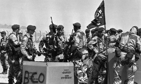 U.S. troops from the 82nd Airborne receive rifles in Sharm el-Sheikh, Egypt, in 1982. For decades, U.S. troops have been part of the multinational peacekeeping force in the Sinai Peninsula designed to ensure the peace treaty between Israel and Egypt. While the accord has held, extremists linked to ISIS now operate in the Sinai and are considered a threat to the Americans.