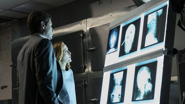 FBI special agent Fox Mulder (David Duchovny) reunites with agent Dana Scully (Gillian Anderson) in Fox's new <em>X-Files</em> series, which premieres Sunday night.