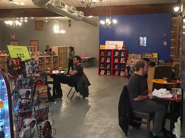Ariell Johnson says customers have been supportive of her new comic book store and coffee shop.