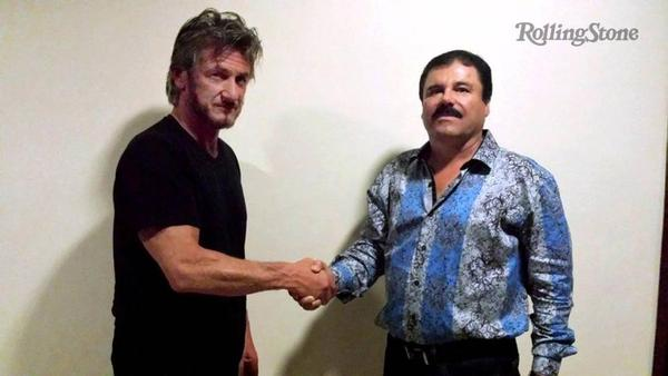 "Sean Penn with Joaquin ""Chapo"" Guzman during their meeting in Mexico in October."