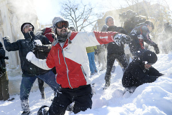 "This year's D.C. snowball fight was dubbed ""Snow Wars: The Snowball Strikes Back"" on Facebook."
