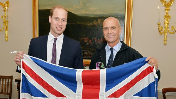 Polar explorer Henry Worsley (right) died after breaking off an attempt to cross the Antarctic landmass unaided. He's seen here with Britain's Prince William in October, shortly before setting out on his journey.