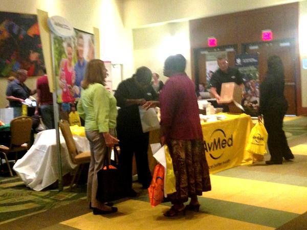 State employees at the benefts fair at USF Tampa in October 2015