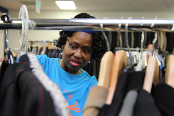 Ella Barnes-Williams visits the thrift shop associated with Martha's Table, a nonprofit social services organization in Washington, D.C.