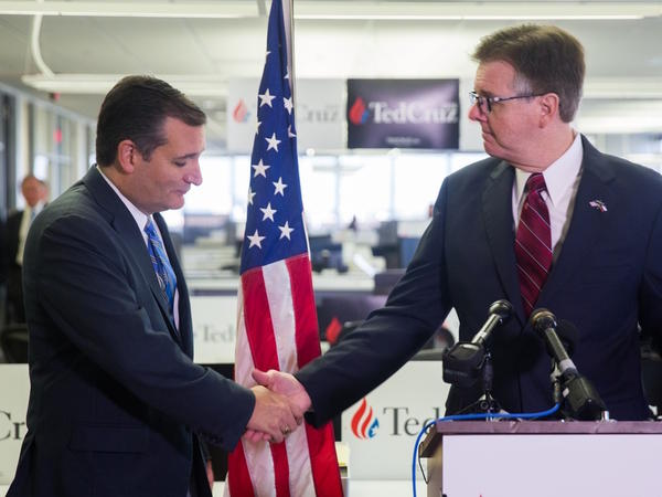 Sen. Ted Cruz won the Republican Iowa Caucus Monday night. Lt. Gov. Dan Patrick said it was inevitable.