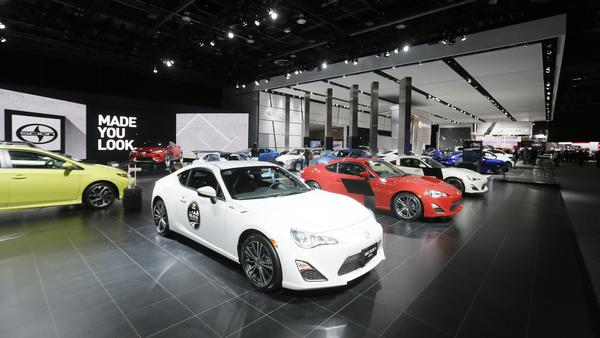 Scion vehicles displayed at the North American International Auto Show last month in Detroit.