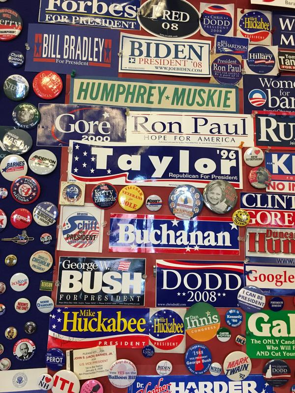 New Hampshire Secretary of State Bill Gardner has four decades of memories to go with the political paraphernalia in his office.