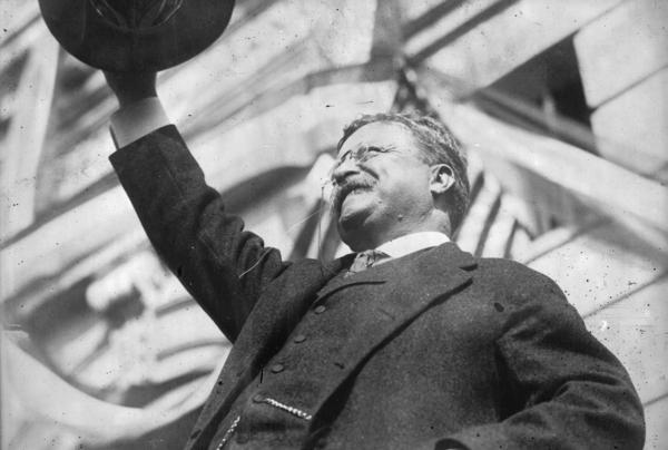 """Theodore Roosevelt is one of the earliest presidents associated with """"progressive"""" politics, even accepting the nomination of the Progressive Party in 1912."""