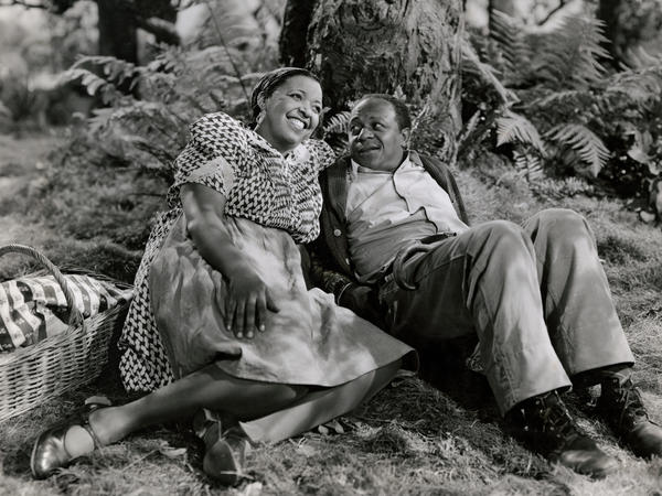 Ethel Waters and Eddie 'Rochester' Anderson in the 1943 film version of <em>Cabin in the Sky</em>, directed by Vincente Minnelli.