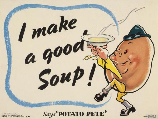 During World War II, Potato Pete, a dapper cartoon spud with a jaunty cap and spats, instructed U.K. consumers on the humble tuber's many uses – not just in standards like scalloped potatoes and savory pies but also in more surprising options, like potato scones and waffles.