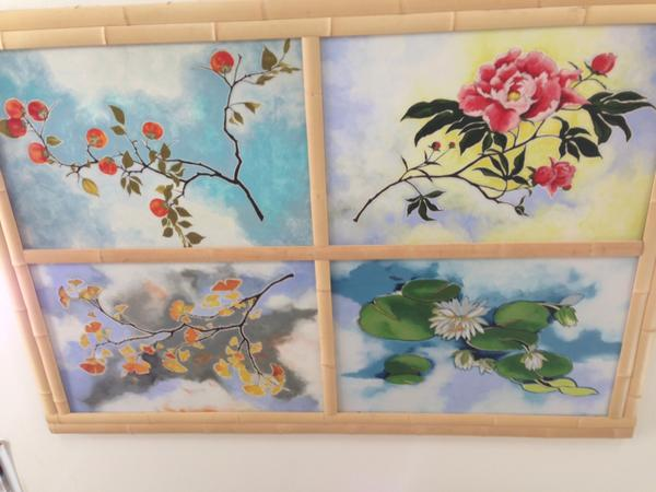 Nancy Enkoji artwork on the Jingu House ceiling
