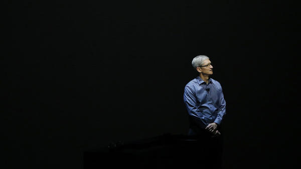 Apple CEO Tim Cook appears Sept. 9, 2015, in San Francisco to unveil the latest iterations of the company's smartphone.