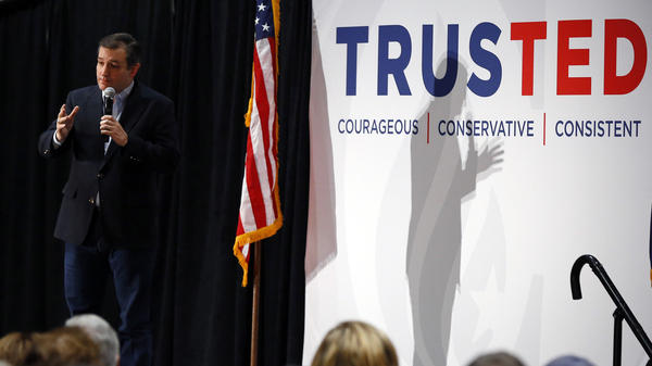 Republican presidential candidate Sen. Ted Cruz speaks at a rally Tuesday in Anderson, S.C.
