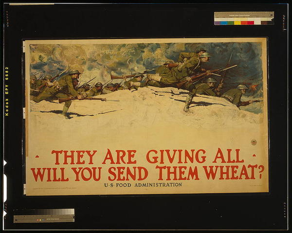 "A poster produced by the U.S. Food Administration during World War I. ""There was a feeling that the troops deserved white bread, and the rest of us could add cornmeal or rye flour,"" says <a href=""http://www.joannelambhayes.com/"" target=""_blank"">Joanne Lamb Hayes</a>, author of <em>Grandma's Wartime Kitchen</em>."