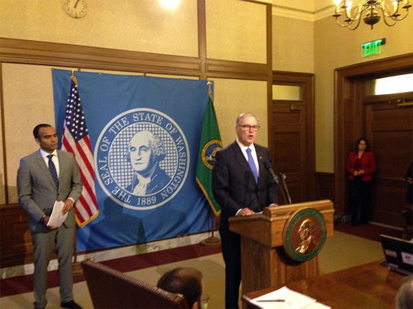 Governor Jay Inslee announces the results of an investigation into the early release of nearly 3,000 prison inmates, resulting in two deaths.