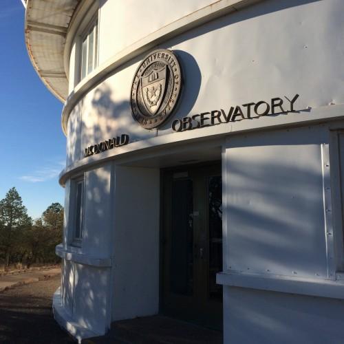 Atop Mt. Locke, McDonald Observatory, near Fort Davis, Texas.