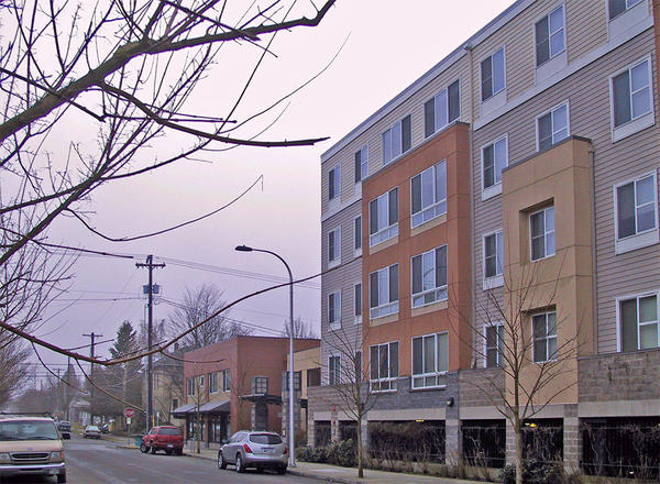 File photo of a mixed-use, mixed-income development apartment building with affordable housing in Portland.