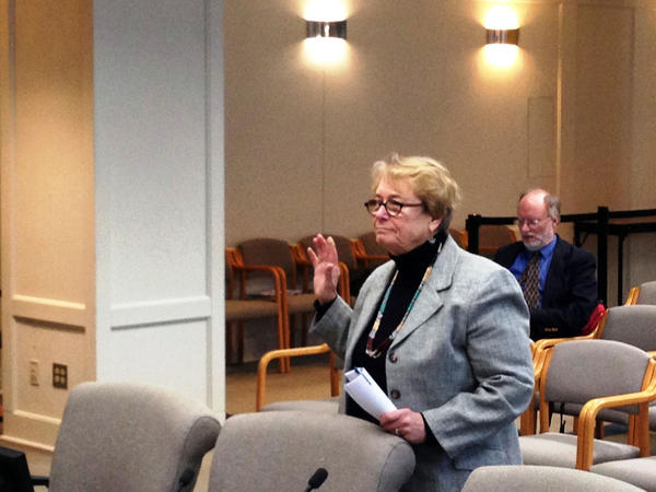 Former Washington Department of Corrections chief information officer Kit Bail takes an oath before testifying before the Senate Law and Justice Committee regarding the accidental early release of nearly 3,000 prison inmates.