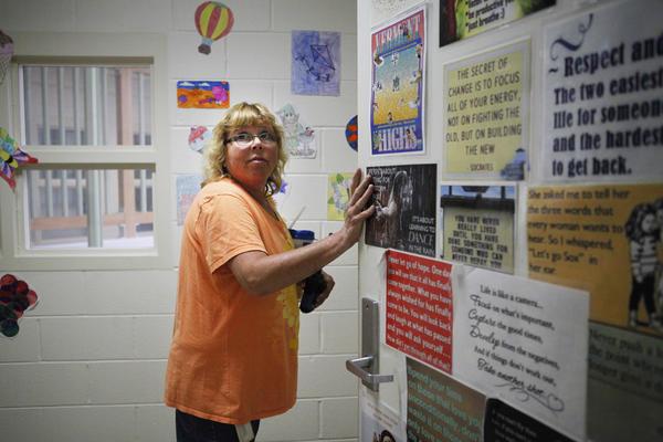 Lisa Elder has taught at Woodside Juvenile Rehabilitation Center for 27 years.
