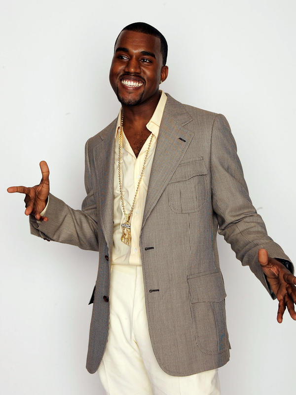 Kanye West in 2004 backstage during the World Music Awards in Las Vegas.