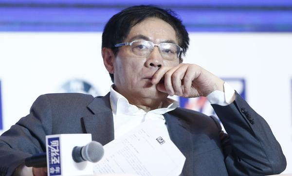Ren Zhiqiang, a Chinese real estate tycoon, attends a conference in Beijing last November. Ren, 54, is locked in a battle with the government over the question of free speech.