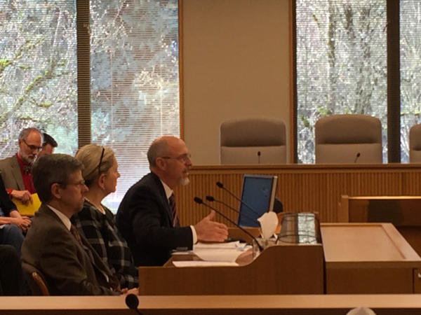 <p>Oregon Department of Environmental Quality Director Dick Pedersen tells a legislative committee his plans for improving state air pollution regulations.</p>