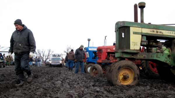 Many farmers are selling unused or out-of-date equipment to make money in a year when grain prices are low.