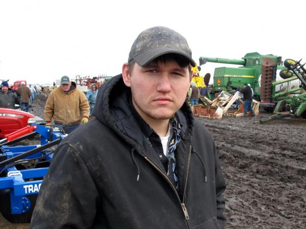 Colten Josoff, 23, of Louisville, Neb. works a full-time off-farm job, because farming his land doesn't pay enough by itself.