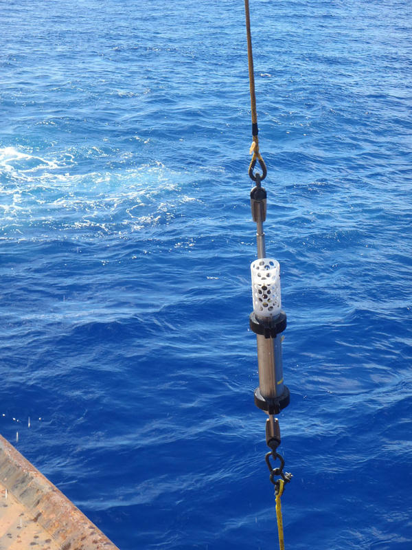 The hydrophone was encased in a titanium shell to protect it from the enormous pressure at about 36,000 feet of water depth.