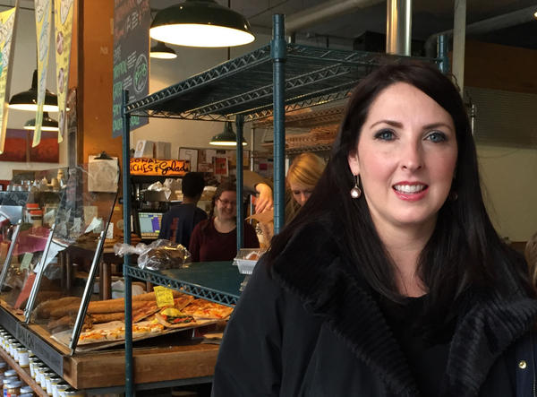 Ronna Romney McDaniel is Michigan's Republican National Committeewoman. Robin Young spoke with her at Avalon International Breads in Detroit. (Robin Young)