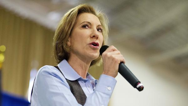 Carly Fiorina speaks at a campaign event last month. The former Republican candidate on Wednesday said she voted in her state's primary for Texas Sen. Ted Cruz.