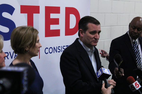 Cruz told reporters he believed protesters used their right to free speech to infringe on other's right to free speech.