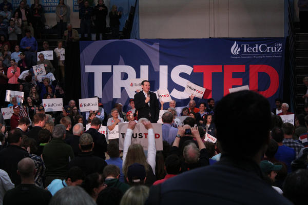 Cruz told the crowd he thought the election would come down to issues of jobs, freedom and security