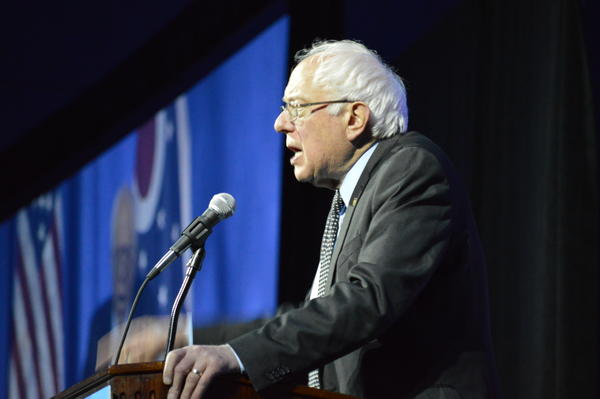 Sanders delivers his address at the Ohio Democratic Party Legacy Dinner