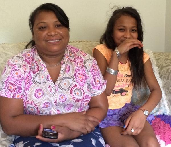 Gita Kami (left) and daughter Nisha Darjee at their home in Chalet Manor.