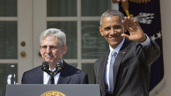 President Obama stands with U.S. Court of Appeals Judge Merrick Garland, as the president announces Garland's nomination as a justice of the Supreme Court.