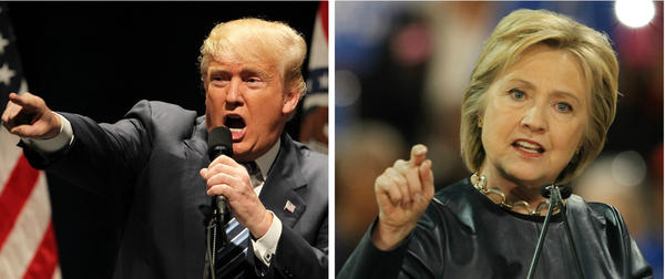 Republican Donald Trump and Democrat Hillary Clinton campaigned in St. Louis shortly before the Missouri primary.