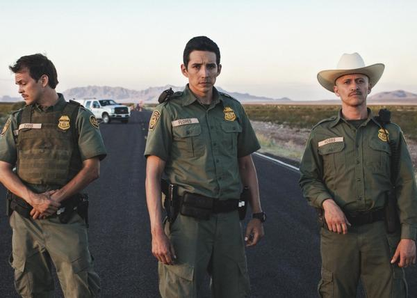 "Johnny Simmons, Gabriel Luna and Clifton Collins, Jr. star in ""Transpecos."""